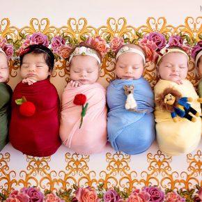 Ensaio de bebês inspirado em Princesas da Disney