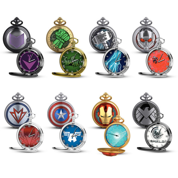 Bradford Exchange lança coleção de relógios de bolso Os Vingadores