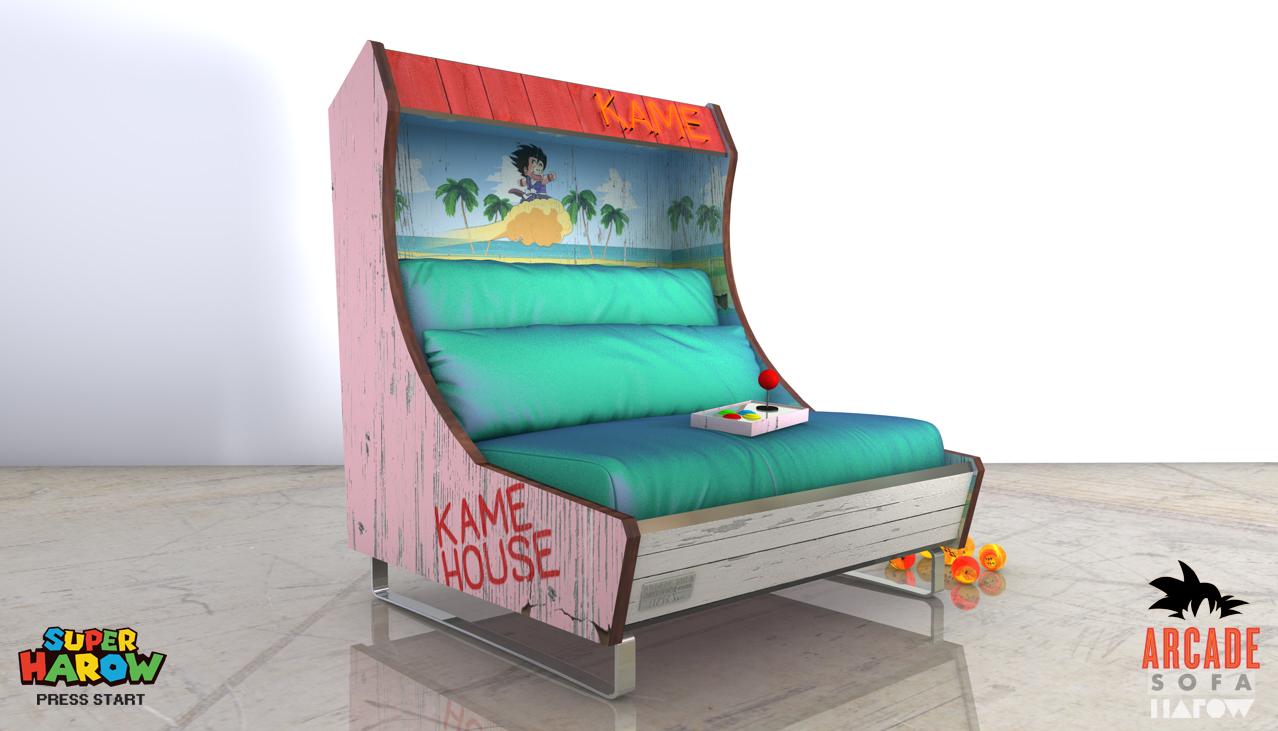 Sofás Arcades: Estúdio de design cria sofás que parecem clássicos arcades