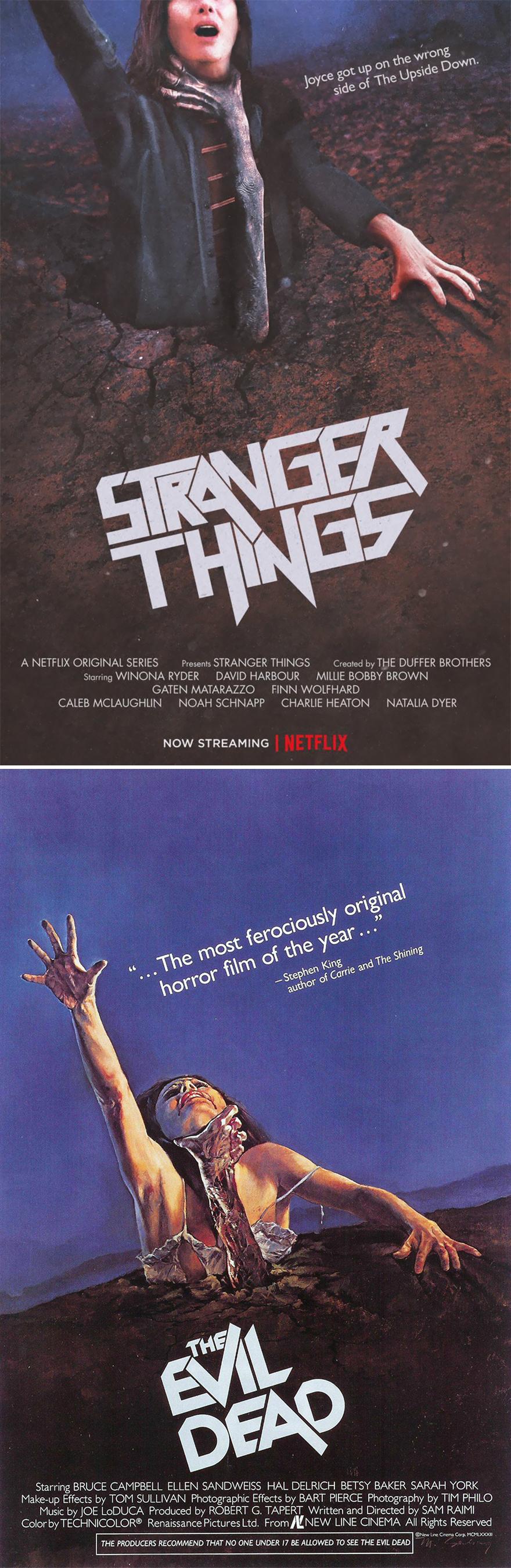 Posters de Stranger Things recriam cartazes clássicos de terror dos anos 70 e 80