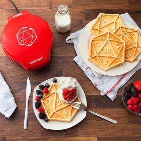 Máquina de waffletraz um D20 para o seu da café-da-manhã!