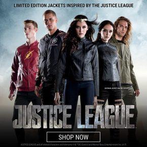 Coleção de jaquetas Liga da Justiça