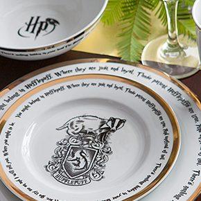 Aparelho de jantar Harry Potter com casas de Hogwarts