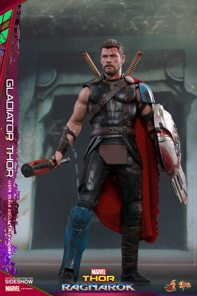 Thor e Hulk em action figures de Thor: Ragnarok