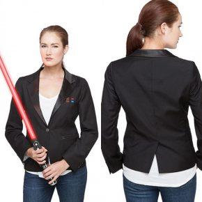 Blazer feminino e masculino inspirado no uniforme de Darth Vader