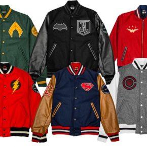 Coleção de jaquetas Liga da Justiça representando personagens!