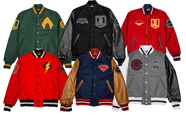 Coleção de jaquetas da Liga da Justiça representando personagens!