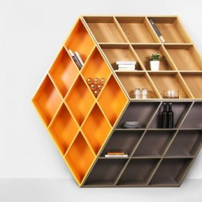 Organize seus livros nessa estante inspirada no Cubo Mágico