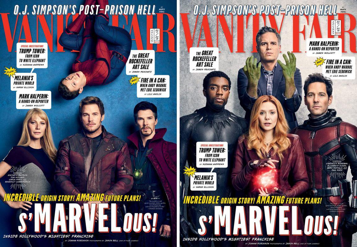 Os Vingadores estampam capas da Vanity Fair