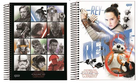 Star Wars – Os Últimos Jedi: Jandaia lança linha exclusiva de cadernos