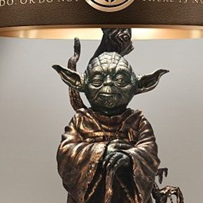 Star Wars: abajur de bronze temático do Yoda