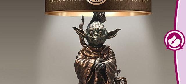 Star Wars: abajur de bronze temático do Yoda