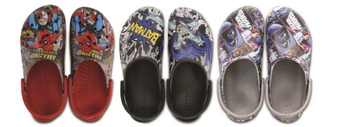 Crocs lança coleção com estampas do Batman, Spider-Man e Star Wars