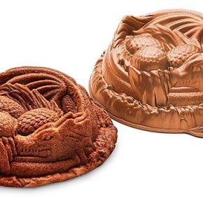 Forma de bolo transforma sua simples receita em dragão!