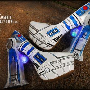 Sapatos de salto da Zombie Peepshow