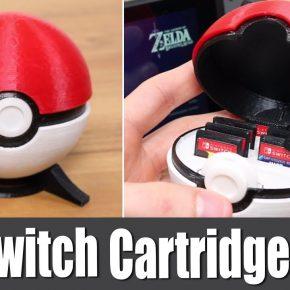 Impressão 3D: Guarde seus cartuchos de Nintendo Switch com muito estilo