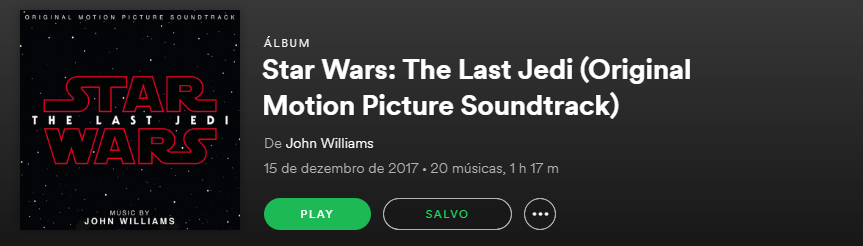 Ouça a trilha sonora de Star Wars: The Last Jedi