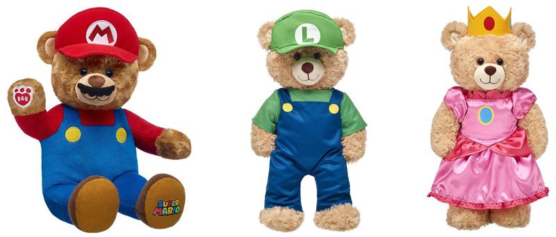 Ursinhos Super Mario: build-a-bear lança pelúcias Mario, Luigi e Princesa Peach