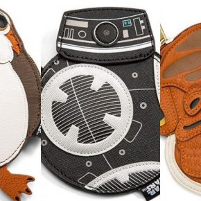 Star Wars: Porta moedas de personagens BB-9E, Porg e Akbar