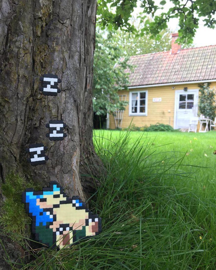 Artista sueco cria arte de rua inspirada em 8-bit