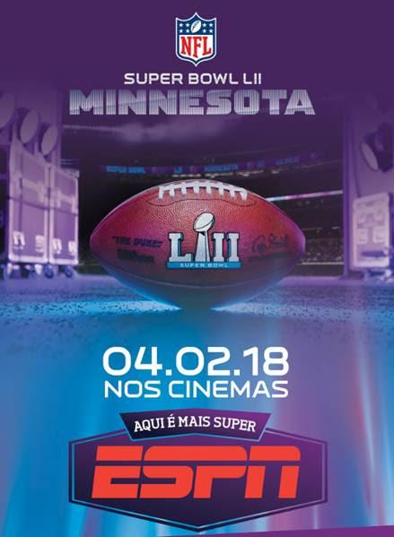 Cinemark transmite 52ª edição do Super Bowl ao vivo no dia 4 de fevereiro
