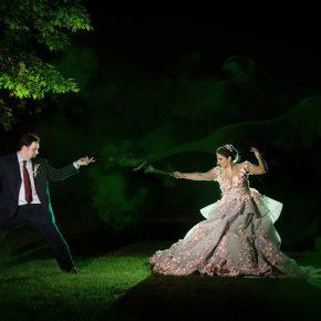 Harry Potter: Casamento e sessão de fotos inspiradas na Sonserina
