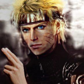 Personagens de Naruto com fisionomia realista