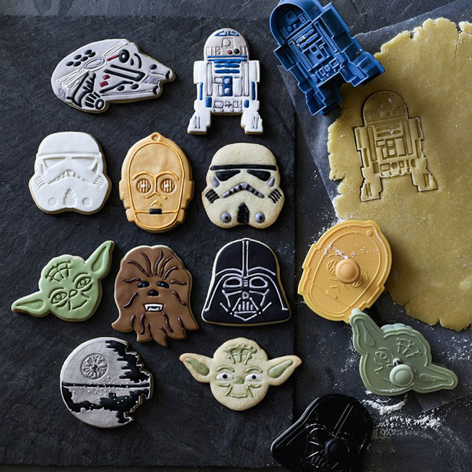 Crie lanches intergalácticos com o conjunto de cortadores de biscoitos Star Wars