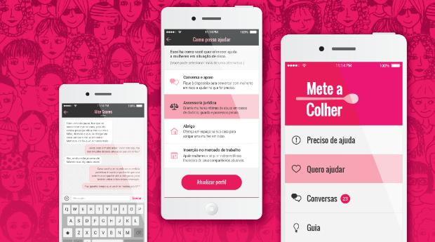 Mete a colher: aplicativo ajuda mulheres que sofrem de violência doméstica e psicológica