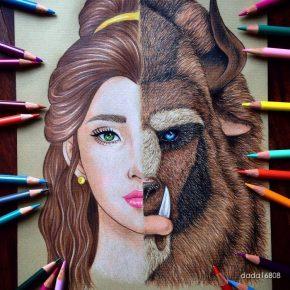 Artista faz combinações com personagens de desenhos, filmes e séries
