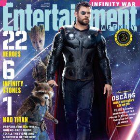 Vingadores: Guerra Infinita - Thor luta ao lado de Rocket e Groot