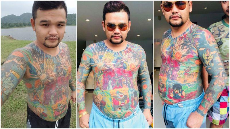 Dragon Ball: fã tailandês cobre o corpo com tatuagens do anime