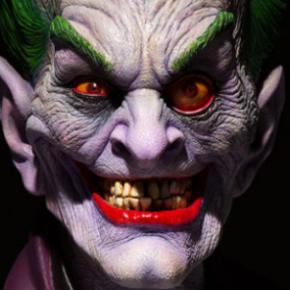 Rick Backer: Mestre do terror projeta busto perturbador do Coringa