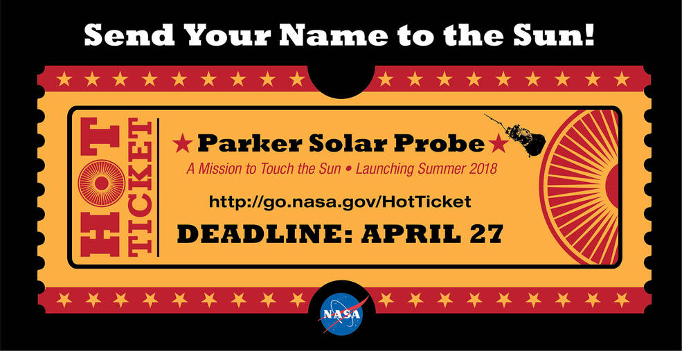 Envie seu nome para o sol com a Parker Solar Probe!