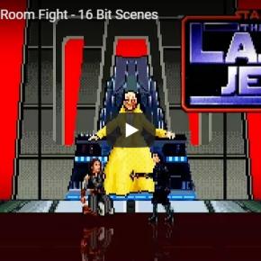 Star Wars: batalha com sabre de luz de Snoke foi recriada em 16-bit