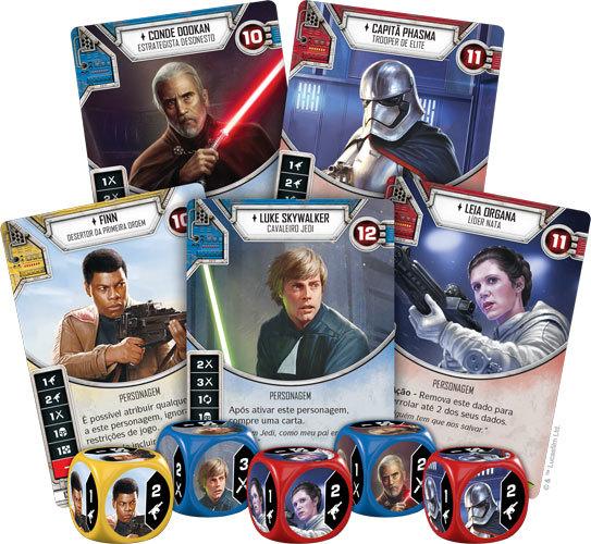 Dados e Deck do Star Wars Destiny
