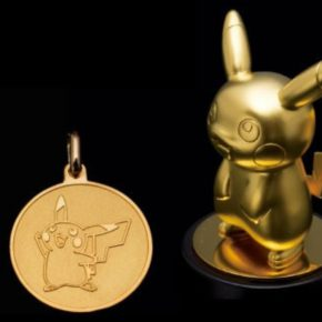 Pokemon: colecionável de ouro do Pikachu