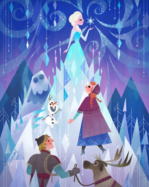 Joey Chou: Artista ilustra personagens no estilo da Mary Blair