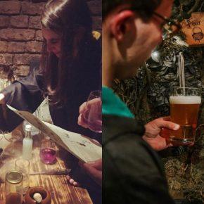Harry Potter: bar temático The Cauldron oferece coquetéis em caldeirões e varinhas para conseguir cerveja