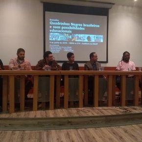 Evento na FEUSP debate sobre quadrinhos negros brasileiros e uso para a educação