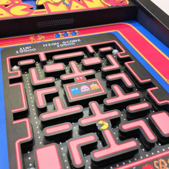 Shadowboxes de jogos antigos