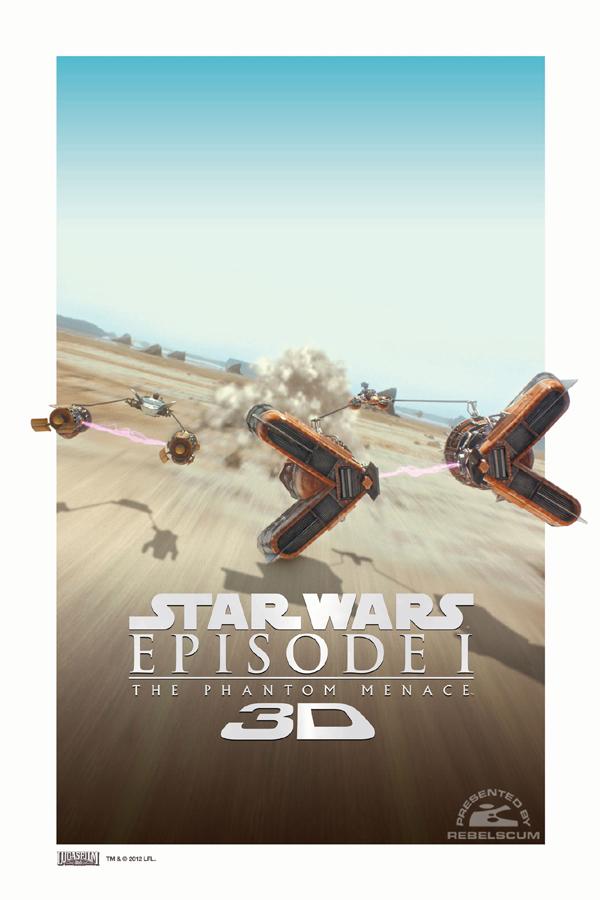 star wars novos posters de a amea a fantasma 3d