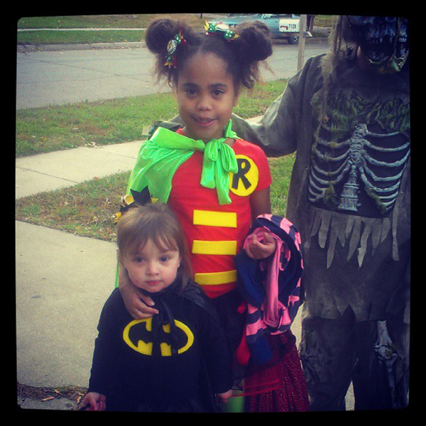 Criança Fantasia Batman e Robin