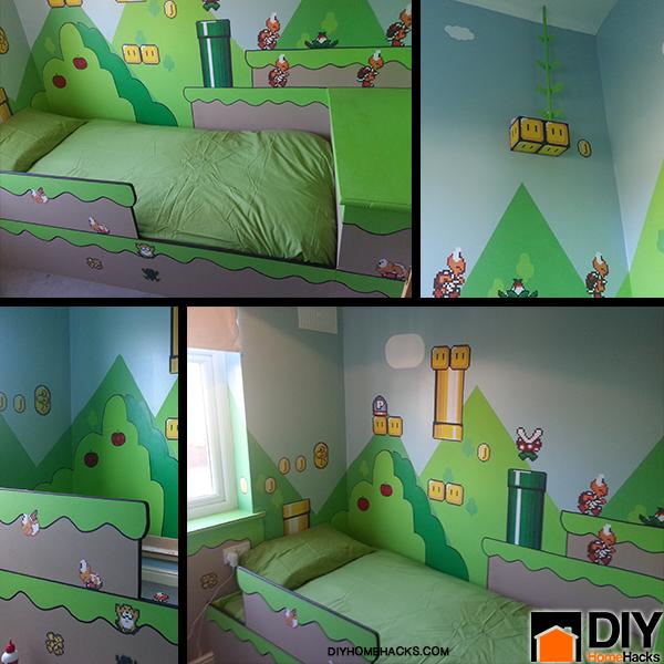 Korean Bedroom Design Bedroom Lighting Diy Quirky Bedroom Furniture Ninja Turtle Bedroom Sets: Quarto Infantil Inspirado Em Super Mario