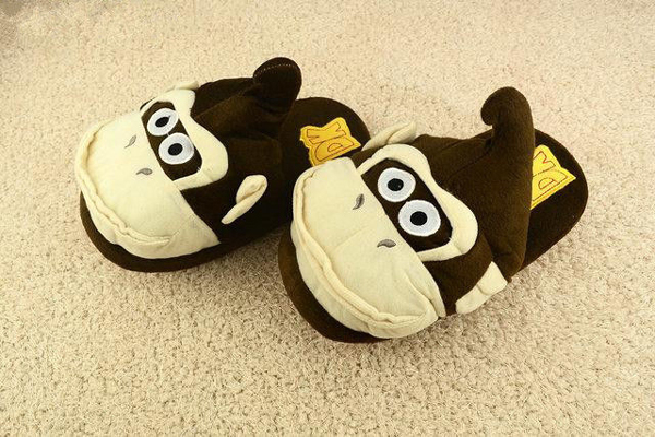 FreeShipping-Super-Mario-Donkey-Kong-Plush-shoes-Winter-Warm-Slippers-Home-Lovely-Slipper