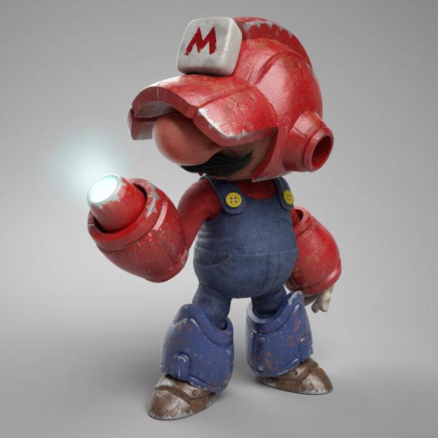 Artista cria mashup Mega Man e Mario