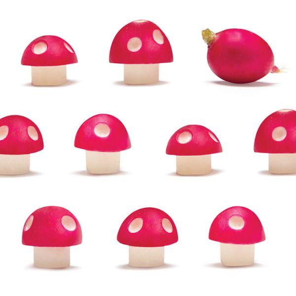 Acessório transforma rabanetes em cogumelos do Mario