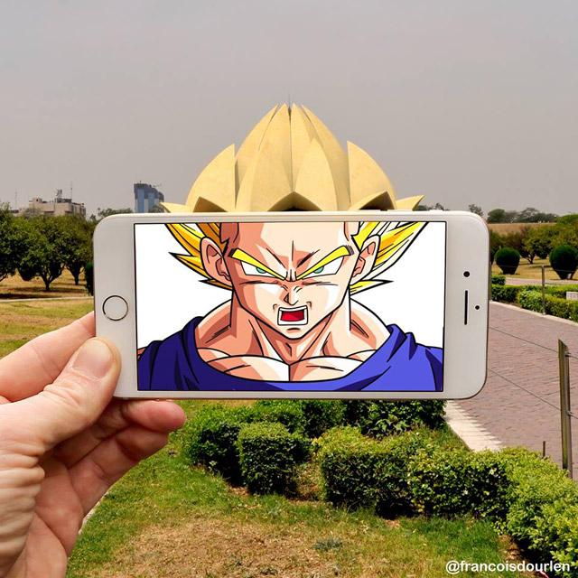 Fotógrafo francês insere personagens de Dragon Ball Z na vida real