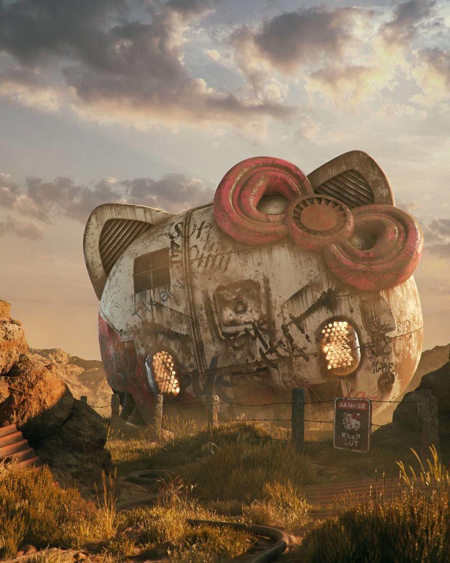 Apocalipse da Cultura Pop: Artista cria série de ilustrações mostrando ícones da cultura pop de forma decadente