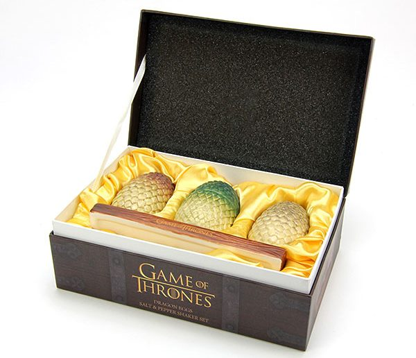 Kit de saleiro e pimenteiro Game of Thrones: ovos de dragão na sua mesa!